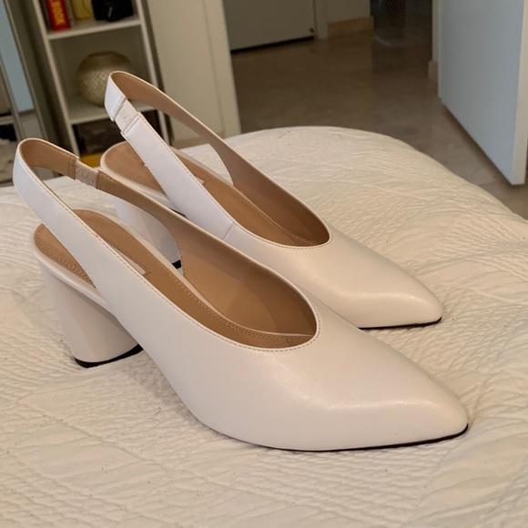 9eca3ffb1e5b Topshop Shoes   Gainor Slingback Pump White Size 85   Poshmark